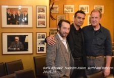 Boris Aljinovic, Nadeem Aslam und Bernhard Robben