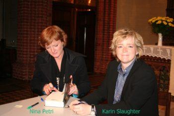 Nina Petri und Karin Slaughter